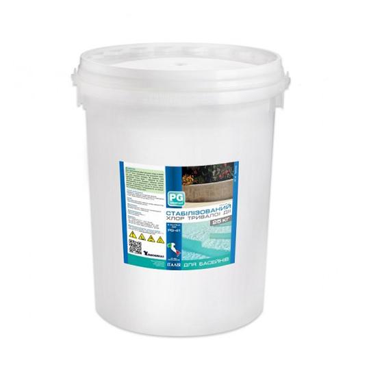 Фото - Стабилизированный хлор длительного действия 90% Barchemicals 25 кг. (табл. по 200 г.)