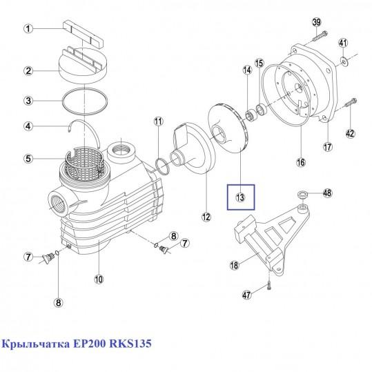 Крыльчатка EP200 RKS135
