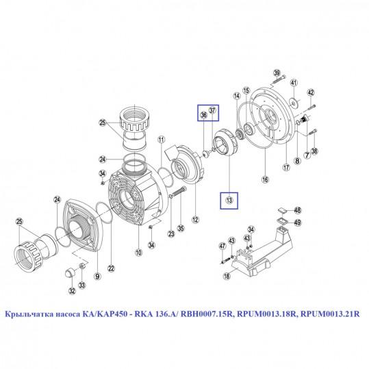 Крыльчатка насоса КА/KAP450 - RKA 136.A/ RBH0007.15R