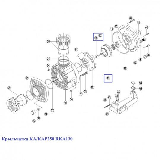 Крыльчатка KA/KAP250 RKA130
