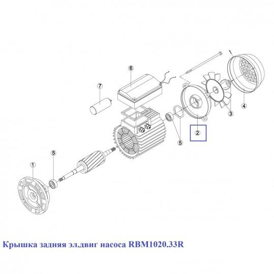 Крышка задняя эл.двиг насоса RBM1020.33R