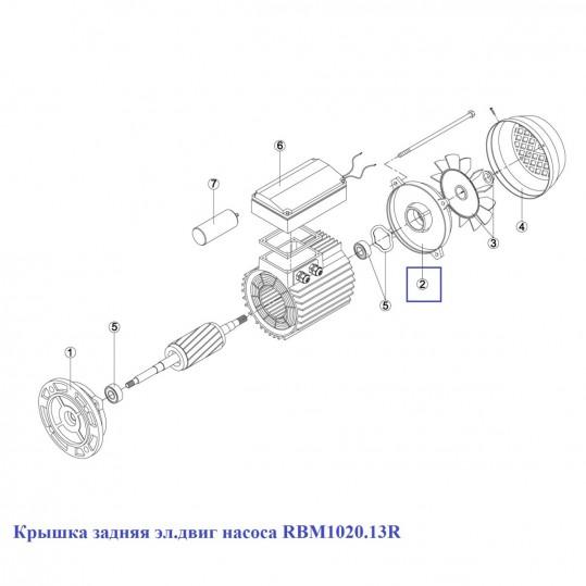 Крышка задняя эл.двиг насоса RBM1020.13R