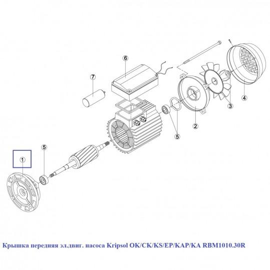 Крышка передняя эл.двиг. насоса Kripsol OK/CK/KS/EP/KAP/KA RBM1010.30R