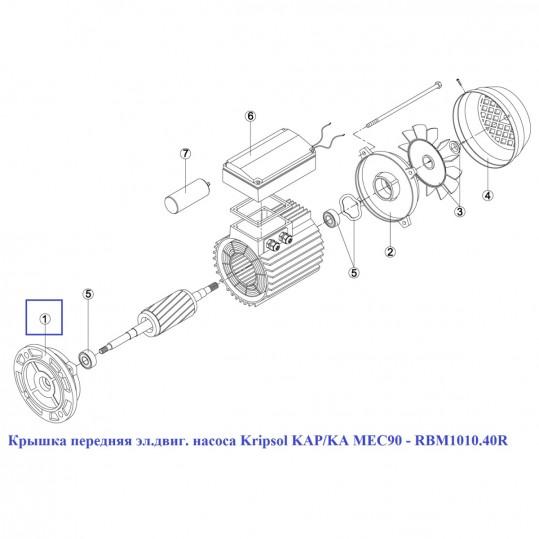 Крышка передняя эл.двиг. насоса Kripsol KAP/KA MEC90 - RBM1010.40R