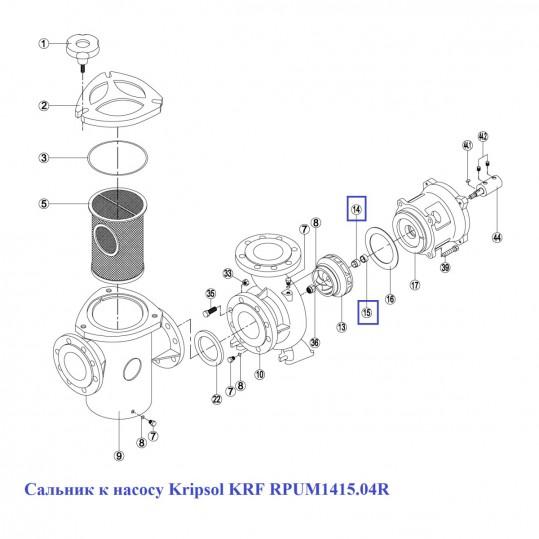 Сальник к насосу KRF RPUM1415.04R
