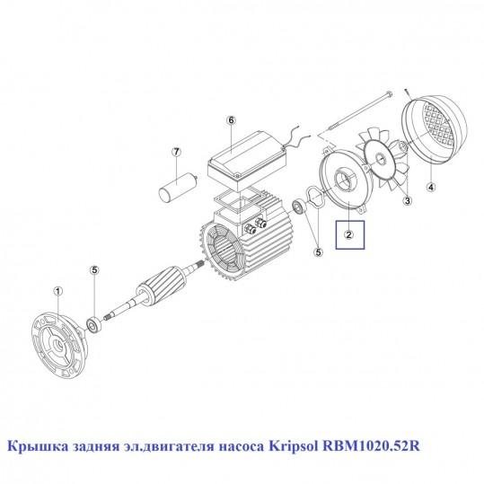 Крышка задняя эл.двигателя насоса Kripsol RBM1020.52R