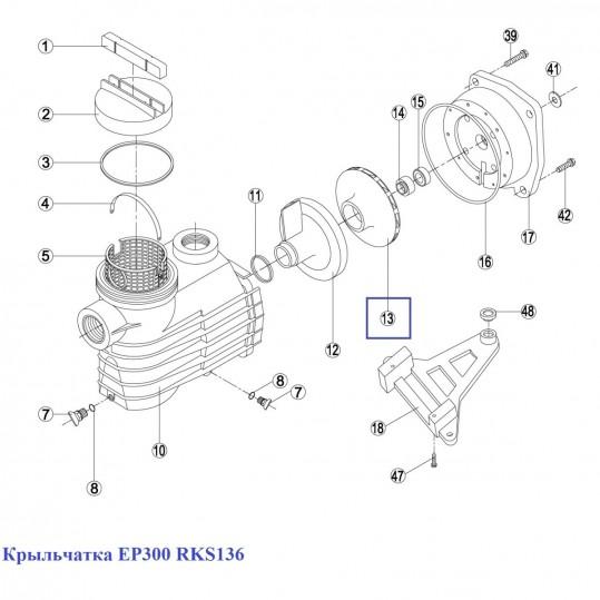 Крыльчатка EP300 RKS136