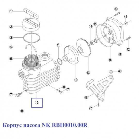 Корпус насоса NK RBH0010.00R
