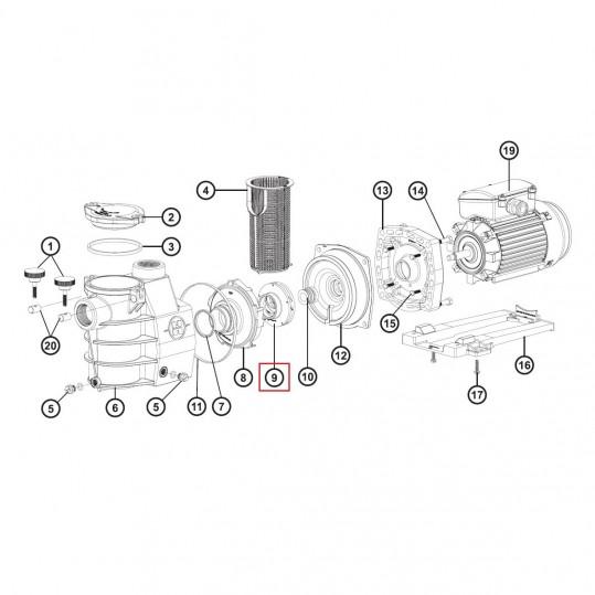 Крыльчатка для насосов Hayward Max-Flo/ PowerLine Plus 1,5 НР (SPX1616CEX)