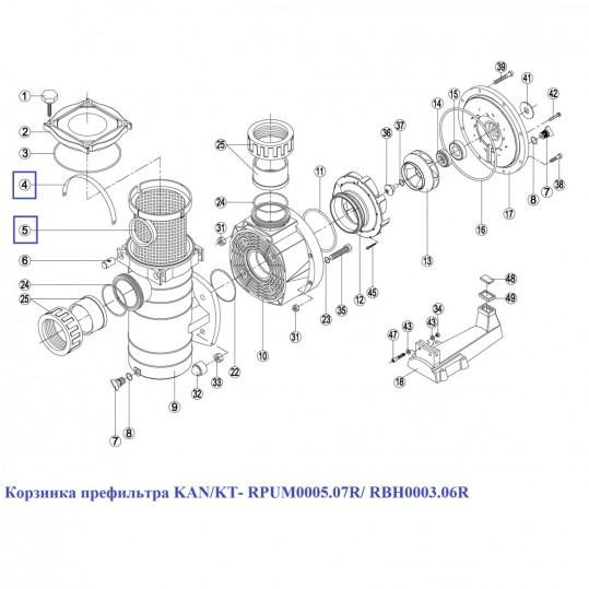 Корзинка префильтра KAN/KT- RPUM0005.07R/ RBH0003.06R