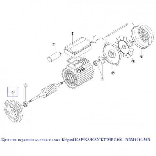 Крышка передняя эл.двиг. насоса Kripsol KAP/KA/KAN/KT MEC100 - RBM1010.50R