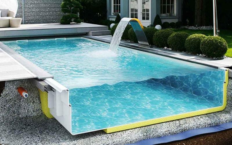 Картинки по запросу Строительство композитных бассейнов